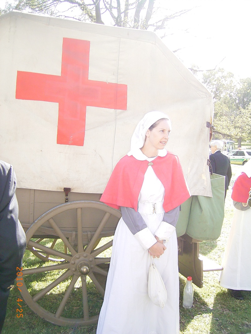 Uniform of the WWI nurse.